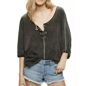 We The Free People First Base Henley Top XS Dolman